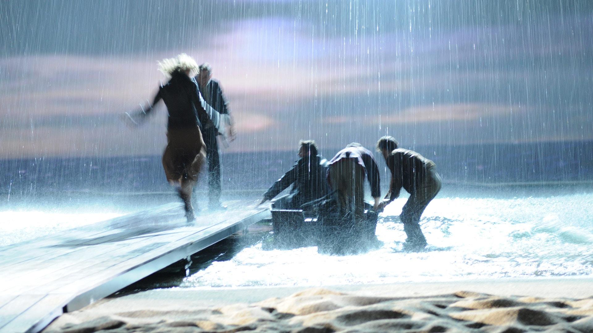 Steiger en regen scene Soldaat van Oranje de Musical