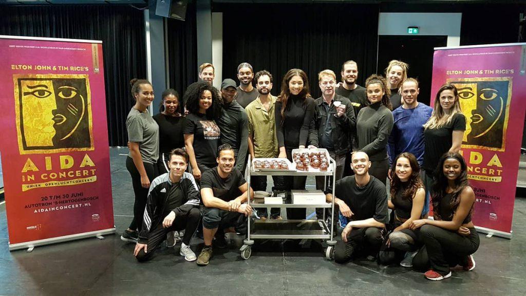 Cast Aida groepsfoto (repetitie)